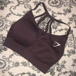 Gymshark Purple seamless energy sports bra XS